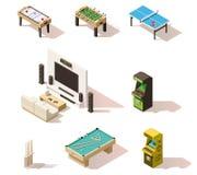 Giochi bassi isometrici di vettore poli messi Immagine Stock