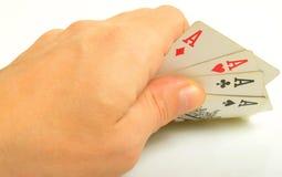 Giochi con le carte. Immagini Stock