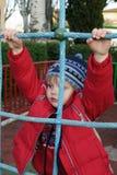 Il bambino su una scala Fotografia Stock Libera da Diritti