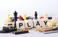 Giochi da tavolo Immagini Stock