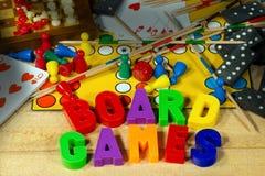 Giochi da tavolo con le lettere magnetiche Immagini Stock