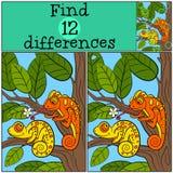 Giochi dei bambini: Differenze del ritrovamento Immagini Stock Libere da Diritti