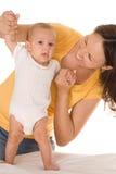 Giochi del papà con i bambini in giovane età Immagine Stock Libera da Diritti