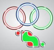 Giochi dell'emblema Fotografia Stock Libera da Diritti