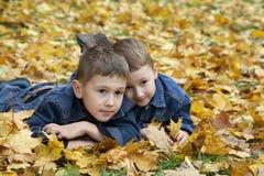 Giochi di autunno Fotografie Stock Libere da Diritti
