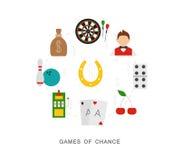 Giochi di azzardo del casinò Fotografia Stock