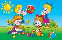 Giochi di estate royalty illustrazione gratis