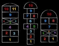 Giochi di Hopscotch Fotografie Stock