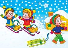 Giochi di inverno Fotografia Stock