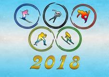 Giochi 2018 di olimpiade invernale illustrazione vettoriale