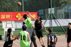 Giochi di pallacanestro Immagine Stock