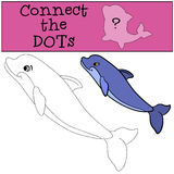 Giochi educativi per i bambini: Colleghi i punti illustrazione vettoriale