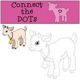 Giochi educativi per i bambini: Colleghi i punti illustrazione di stock
