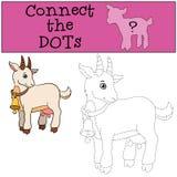 Giochi educativi per i bambini: Colleghi i punti Capra sveglia illustrazione di stock