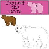 Giochi educativi per i bambini: Colleghi i punti Orso sveglio royalty illustrazione gratis