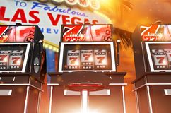 Giochi famosi della scanalatura di Las Vegas Fotografia Stock