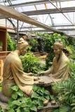 Giochi gli scacchi della scultura nella mostra d'agricoltura della scultura Immagini Stock Libere da Diritti