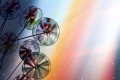 Giochi i mulini a vento Fotografie Stock Libere da Diritti
