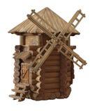 Giochi il mulino a vento fatto di legno nello stile di rustico e della Provenza fotografia stock