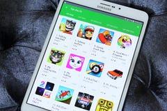 Giochi liberi superiori nel deposito del gioco di Google Immagine Stock