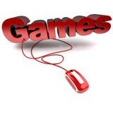 Giochi in linea Immagine Stock Libera da Diritti