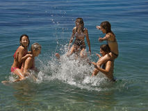 Giochi in mare 2 Immagini Stock
