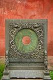 Giochi olimpici di vacanza 2008 del dettaglio Aug-8-08 Cina delle mattonelle di tetto di Pechino la Città proibita che hanno inclu Fotografia Stock