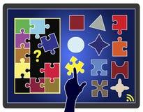 Giochi online per il bambino Fotografie Stock