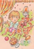 Giochi per i bambini Fotografie Stock Libere da Diritti