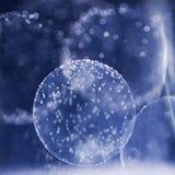 Giochi subacquei astratti con le bolle e la luce Fotografia Stock Libera da Diritti
