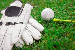 Giochiamo un tondo del golf! Fotografie Stock Libere da Diritti