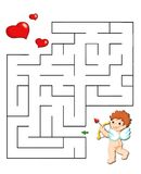 Gioco 37, labirinto romantico Immagini Stock