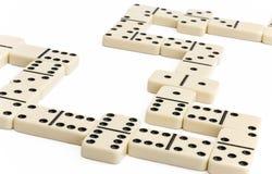 Gioco bianco di domino Fotografia Stock