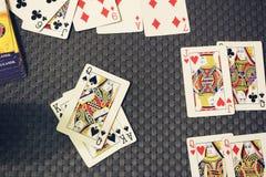 Gioco cards fotografia stock libera da diritti
