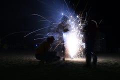 Gioco con fuoco Fotografia Stock Libera da Diritti