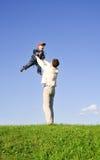 Gioco con il padre 4 Immagine Stock