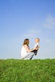 Gioco con la madre 1 Immagine Stock Libera da Diritti