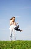 Gioco con la madre 5 Fotografia Stock Libera da Diritti