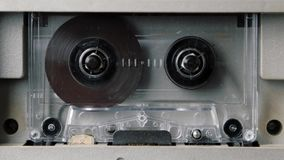 Gioco d'annata dell'audio cassetta video d archivio