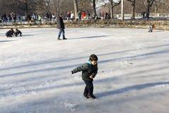 Gioco da bambini congelato della fontana Fotografia Stock