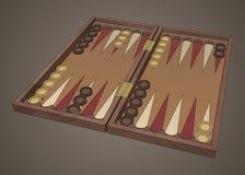 Gioco da tavolo di legno di tavli della tavola reale Fotografia Stock Libera da Diritti