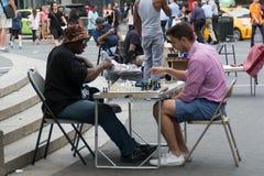 Gioco da tavolo nel parco di Manhattan Fotografie Stock
