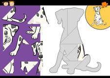 Gioco dalmata di puzzle del cane del fumetto Fotografie Stock Libere da Diritti