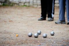 Gioco dei boules Fotografie Stock Libere da Diritti