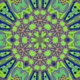 Gioco dei colori Il tiraggio astratto striscia fronti e fiori di io illustrazione di stock