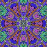 Gioco dei colori Tiraggio astratto con i fronti ed i fiori royalty illustrazione gratis