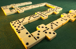 Gioco dei domino Fotografie Stock Libere da Diritti