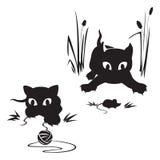 Gioco dei gatti Immagine Stock
