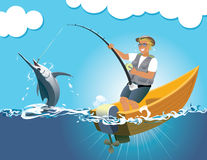 Gioco dei pesci spada Fotografie Stock Libere da Diritti