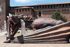 Gioco dei troni, Milano 2017 Immagine Stock